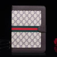 ingrosso supporto in pelle ipad-Per ipad pro 12.9 / Air 10.5 / ipad2 3 4 5 6 / mini1 2 3 4 Designer Luxury Classic Monogram Porta carte in pelle ipad Case mini 5