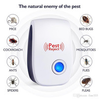 Wholesale ultrasonic electronic repeller resale online - Pest Reject Electronic Cat Ultrasonic Anti Mosquito Insect Killer Repeller Control Rat Mouse Cockroach Repellent EU US UK AU Plug