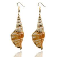 ingrosso pendente di lumaca dei monili-Monili di modo della spiaggia degli orecchini di goccia del pendente delle coperture della lumaca di Boemia naturale delle lumache