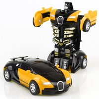 coche de juguete abs al por mayor-Juguetes para niños fresco Película figura de acción de coches modelos de transformación de deformación Robots Fricción cambiable Juguete