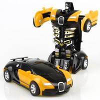 robot çocuk filmi toptan satış-Serin Çocuk Oyuncakları Film Action Figure Dönüşüm Araba Modelleri Deformasyon Robotlar Sürtünme Powered Değiştirilebilir Oyuncak