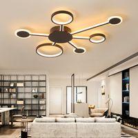 yeni ev aydınlatma tasarımı toptan satış-Yeni Tasarım Modern Oturma Odası Yatak Odası Çalışma Odası Için Led Tavan Işıkları Ev Renk Kahve Bitirmek Tavan Lambası