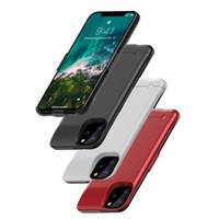 telefones sem fio grátis venda por atacado-Para iPhone 11 Pro Max 6200 Mah caso bateria de backup recarregável Caso Carregador estendida Telefone Portátil Com pacote de varejo DHL FEDEX gratuito