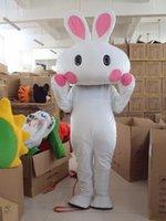 traje de coelho mascote adulto venda por atacado-Festival da lua jadeRabbit Mascot Bugs Coelho Hare Easter Adult trajes da mascote de alta qualidade mascotte costum Fancy Dress
