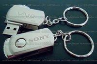 Wholesale usb flash memory 64gb resale online - DHL shipping GB GB GB GB GB High quality SONY Metal rotation USB flash drive pendrive Actual capacity USB memory stick