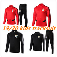 Wholesale red tracksuit kids resale online - 2019 Benfica kids tracksuit SEFEROVIC SALVIO JONAS GABRIEL Home Red Mens Football Uniforms PIZZI JARDEL Short camisa training suit
