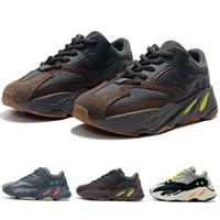 neue stil jungen schuhe großhandel-Kinder Schuhe Wave Runner 700 New Style Kanye West Laufschuhe Junge Mädchen Trainer Turnschuhe Kinder Sportschuhe