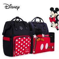 Wholesale cute baby diapers resale online - 2020 Fashion Cute Red Diaper Bag Waterproof Baby Care Mummy Bag Maternity Backpack Large Nappy Maternity