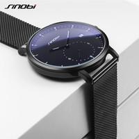 Wholesale sinobi luxury watch for sale - Group buy SINOBI Fashion Mens Watches Top Brand Luxury Quartz Watch Men Casual Slim Mesh Steel Waterproof Sport Watch Relogio Masculino