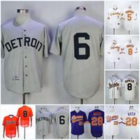 envie camisetas de baseball autênticas venda por atacado-Masculinas 1968 6 Al Kaline Baseball Jersey 28 Seth cerveja de alta qualidade Jerseys Top Quality Tudo costurado barato autêntica costurado frete grátis