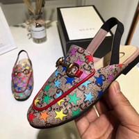 boutique kleider für mädchen großhandel-Designer Kinderschuhe Kleinkind Sandalen für die Hochzeit putzt sich echtes Leder Kinder Designer Sandalen zum Verkauf Mädchen Schuhe Boutiquen
