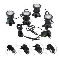 Wholesale 4w spot lamp resale online - 4pcs Waterproof RGB LED Underwater Spot Light For Swimming Pool Fountains Pond Water Garden Aquarium Fish Tank Spotlight Lamp