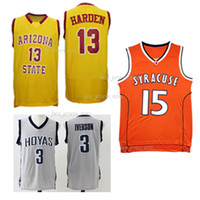water ball achat en gros de-Maillots de football NCAA Arizona State Sun Devils 13 Maillots de basket-ball Harden Vente chaude Jersey vêtements de sport anti-rétrécissement eau