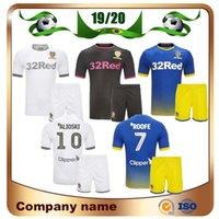 kit de portero jerseys al por mayor-19/20 Leeds United Kids Kit camisetas de fútbol 2019 Local blanco ROOFE BAMFORD ALIOSKI JANSSON Camiseta de fútbol Uniforme de fútbol de portero visitante