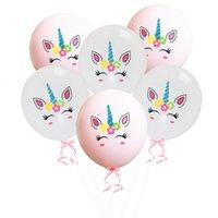 düğün rengi için balonlar toptan satış-Yeni 12 Inç Renk Unicorn Lateks Balon Sevimli Unicorn Doğum Günü Düğün Parti Süslemeleri Balon Ücretsiz Kargo L270