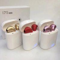 venta de auriculares al por mayor-Nueva venta caliente i7 i7S TWS Auriculares Bluetooth con caja de carga Mini Twins Auriculares inalámbricos con micrófono V4.2 Auriculares portátiles para iPhone 7S