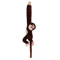 café macaco venda por atacado-Bonitinho Screech Gibbon Macaco Plush Doll Toy Som Crianças Presente de Natal (café)