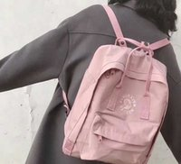 Wholesale backpacks for embroidery for sale - Group buy Authentic Men Women Fjallraven Kanken Backpacks Pink Embroidery Waterproof Durability Backpacks For Easy Carrying