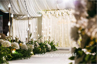 decoraciones de la boda india al por mayor-Nuevo estilo Al por mayor invitaciones de boda India decoración de la etapa mandap con luz de plomo para telón de fondo decor0875