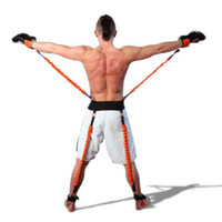 Wholesale resistance band rope pull resale online - Workout Power Resistance Bands Boxing Endurance Agility Pull Rope Crossfit Rubber Band Basketball Leap Training Resistance Rope