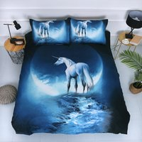 Wholesale 3d pillowcase resale online - 3D Printing Nebula starry sky Bedding Sets Modern Fashion Bed Comforters Sets King Size Bedding Sets Duvet Cover with Pillowcase