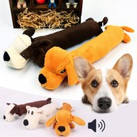 Wholesale Hot Sale Pet Puppy Plush Sound Cartoon Dog Shape Chew Toy Squeaker Squeaky Play Toys