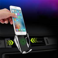 зарядное устройство для автомобильных телефонов оптовых-Автомобильное беспроводное зарядное устройство, полностью автоматическая автомобильная зарядка кронштейна одной рукой выбрать и поставить сертификацию ци 10 Вт быстрая зарядка для IPhone / Samsung