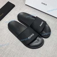 flip flops de moda masculina venda por atacado-Barato melhor das mulheres dos homens sandálias sapatos de grife de luxo de slides de moda de verão ampla plana escorregadio sandálias chinelo flip flop com tamanho da caixa 36-46