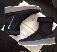 mulheres da moda do exército venda por atacado-Melhor Medo Qualidade de Botas Mens Deus Top Militar Sneakers Exército Hight e Mulheres Sapatos Moda Martin Botas