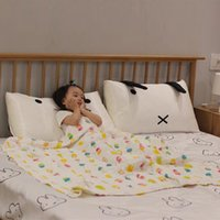 Wholesale bedding bath for sale - Group buy 120x120cm Newborn Baby Swaddle Wrap Blanket Layers Muslin Cotton Infant Baby Floral Soft Blankets Bath Towel Sleeping Bedding