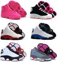 indirimli kadın basketbol ayakkabıları toptan satış-kadın basketbol Ayakkabı 13s Hiper Kraliyet Siyah Gerçek Kırmızı Tarih Uçuş DMP İndirim Spor Ayakkabı Sneakers Black Cat Of Bred