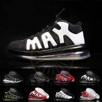 erkekler beyaz ayakkabı moda toptan satış-Hava 2019 Daha Uptempo QS Spor Koşu Ayakkabıları Oreo Üçlü Siyah Beyaz Kırmızı Erkek Eğitmenler Moda Man Basketbol Tasarımcı Sneakers Boyut 7-12
