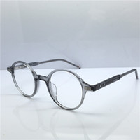 ünlü aydınlatma toptan satış-Ünlü Marka Yuvarlak Optik Gözlük klasik Vintage daire çerçeve lüks tasarımcı gözlük eğilim çok satan tarzı düz ışık gözlük