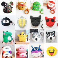 Wholesale panda soft silicone case for sale – best For AirPod Case D Panda lion Skull Huskies Basketball Football Cartoon Soft Silicone pvc arphone Cases For Apple Airpods Case Cute Cover
