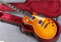 1959 gitar bedava nakliye toptan satış-Ateşli 1959 R9 bal Burst Çin Paul Stil Standart Elektro Gitar ile Ücretsiz Kargo