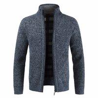 erkek iş hırka toptan satış-Erkekler Sonbahar Kalın Yeni Moda İş Casual Kazak Hırka Erkekler Marka Slim Fit Triko eskitmek Kış Triko Jumper Erkekler SH190930 Isınma