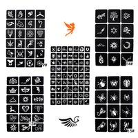 Wholesale painting stencil patterns resale online - 1 Sheet Glitter Tattoo Stencil for Woman Body Paint Spider Cartoon Cute Pattern Airbrush Stencils Templates