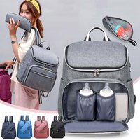 Wholesale mother maternity clothes resale online - Multifunctional Baby Diaper Backpack Mother Maternity Nappy Backpack Large Capacity Mommy Feeder Bag Outdoor Travel Organizer BH3168 TQQ