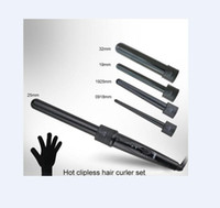 Wholesale china curler for sale - Group buy 5 in Curling Wand Set Hair Curling Tong Hair Curl Iron The Wand Hair Curler Roller Gift Set mm Curler Wand EU US Plug