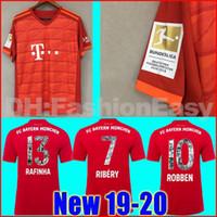 camisolas desportivas personalizadas venda por atacado-Top Tailândia Bayern de Munique Versão do jogador JAMES RODRIGUEZ Camisa de futebol 2018 2019 2020 LEWANDOWSKI MULLER KIMMICH camisa 18 19 20 HUMMELS Camisa de futebol