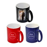 druckfotos china großhandel-Benutzerdefinierte Foto Magic Mug wärmeempfindliche Keramik Tassen personalisierte Farbwechsel Kaffee Milch Tasse Geschenk drucken Bilder H1128 T8190627