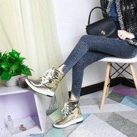cross bowtie venda por atacado-Alta qualidade sapatos de couro Mulheres Tornozelo Botas 2019 Inverno Mulheres Bota Pointed Toe Calçados Cross-amarrado Casual Punk Moda Feminina Big Size 36-41
