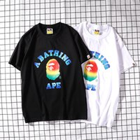 fcc20f092477 2019 spring and summer gradient effect men's designer T-shirt fashion  luxury men's designer T-shirt men's women's clothing