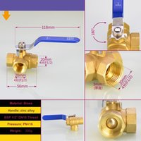 Wholesale ball valve dn15 resale online - 3 Way T PORT Brass Ball Valve quot BSP DN15 For Water Gas Steam Corrosion Acid and Alkali