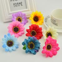 Wholesale home garden accessories resale online - 5pcs Silk daisy Stamens For garden Home wedding decoration accessories fake chrysanthemum diy wreath cheap Artificial flowers