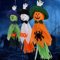 cadılar bayram dekorasyonları açık havada toptan satış-Cadılar Bayramı Hayalet Asma kolye Dekorasyon İç / Dış Spectre Parti Süsleme Programı Cadılar Bayramı Partisi Hayalet Dekorasyon Malzemeleri