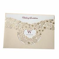 hochzeit karton großhandel-Heiraten Einladungskarte Aushöhlen Grußkarten Gold Hochzeit Verzieren Liefert Kreative Foto Spezielle Karton Heiße Verkäufe 1 7qyC1