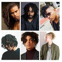 estilos de trança para cabelos negros venda por atacado-Quente! 5 Pcs 8 polegada Estilo Hip-Hop Dreadlocks Dreadlocks Preta Extensões de Cabelo Trança Sintética Extensões de Cabelo De Cultura Maya Para O Homem