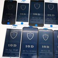 ingrosso iphone 4.7 5.5 protezione dello schermo-Schermo di vetro temperato della copertura della protezione 9D completa Vetro temprato Iphone 11 per Iphone 6 6s 7 8 11 P X Xs Xr Pro Max 4.7 5.5 5.8 6.1 6.5 IPhone