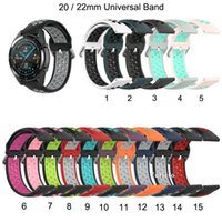 Wholesale prices for samsung galaxy resale online - 20 mm Sport Band for galaxy watch mm Silicone Strap for amazfit GTR mm for Huawei GT e Smart watch band bracelet Price